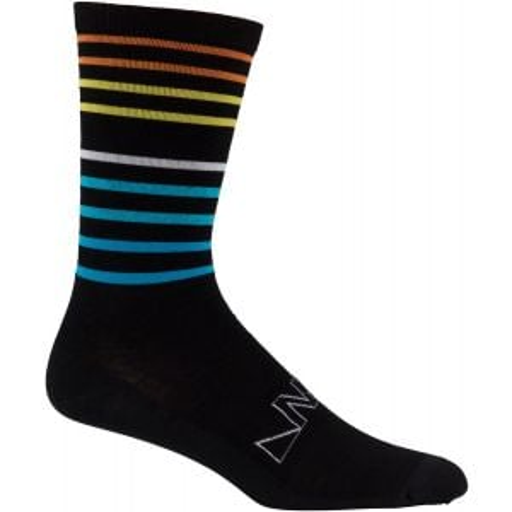 45NRTH Team Edition Lightweight Crew Sock: Black/Multi-color MD