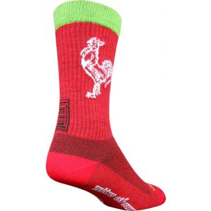 SockGuy Sriracha Wool 7.5 Crew Sock: Red SM/MD