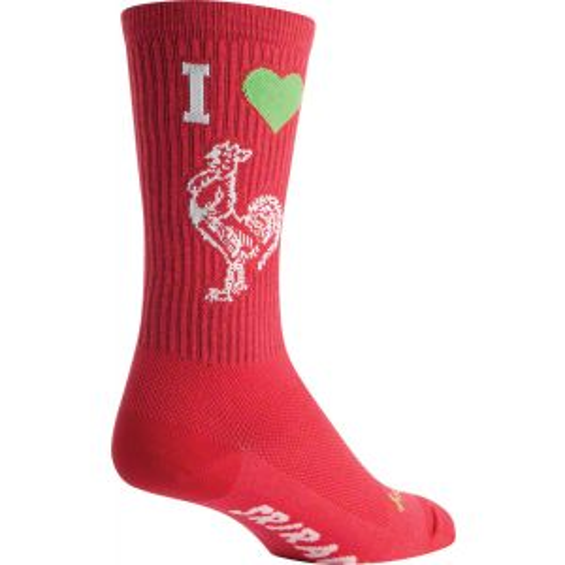 SockGuy Crew I Heart Sriracha Sock: Red SM/MD