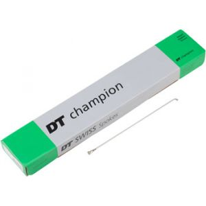 DT Swiss Champion 2.0 297mm Silver Spokes Box of 100