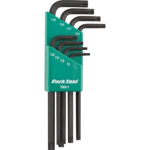 Park Tool TWS-1 L-Shaped Torx Compatible Wrench Set with Holder