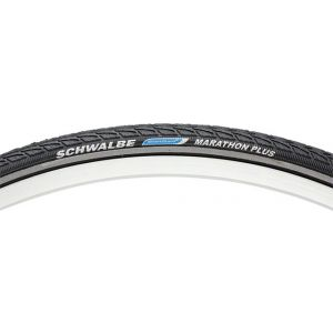 Schwalbe Marathon Plus Tire 700x25 Wire Bead Black with Reflective Sidewall and