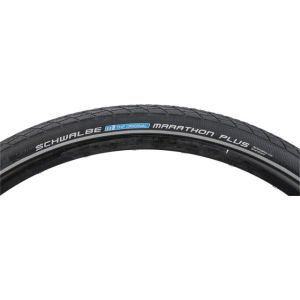 Schwalbe Marathon Plus Tire 700x38 Wire Bead Black with Reflective Sidewall and