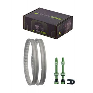 CushCore Tire Inserts Set 27.5 Plus width Pair Includes 2 Tubeless Valves