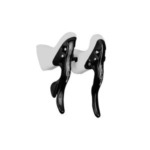 Campagnolo Veloce Power Shift Black Shifters w/White Hoods