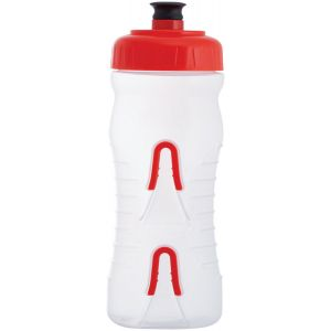 Fabric Cageless Water Bottle: 600ml Clear/Red