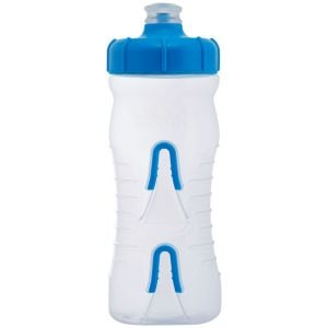 Fabric Cageless Water Bottle: 600ml Clear/Blue