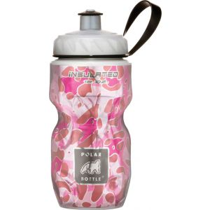 Polar Insulated Water Bottle: 12oz Pink Leopard