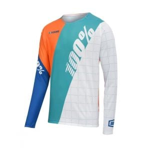 100% R-Core DH Youth Jersey White SM