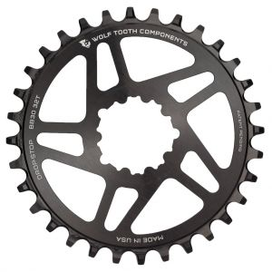 Wolf Tooth Direct Mount BB30 32T Drop-Stop Chainring Round Black