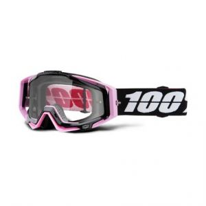 100% RACECRAFT Goggle Floyd Pink - Clear Lens