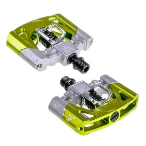 Crank Brothers Mallet 2 Pedals Raw/Green