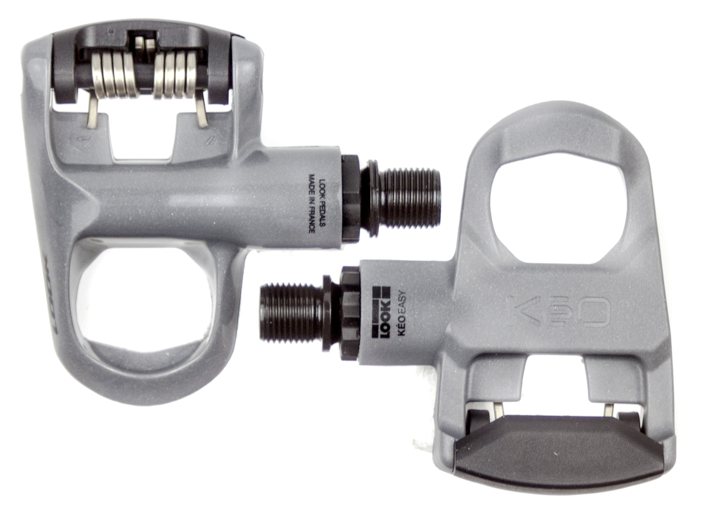 8d6bbfc2f 2015 LOOK Grey KEO Easy road bike clipless pedals with Gray Grip Cleats