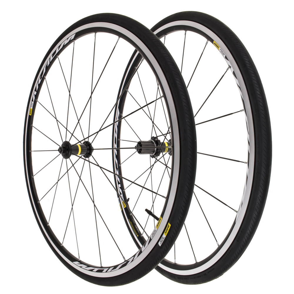 New Mavic Aksium Elite 700C Front Rear 11 Speed Shimano Wheelset w  Yksion Tires