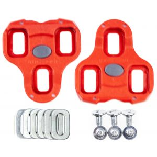 Look Keo Bi-Material Cleats Red 9° Float