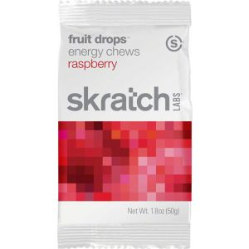 Skratch Labs Fruit Drops Energy Chews: Raspberry Box of 10