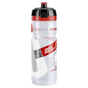 Elite Corsa 750 ml Water Bottle Clear/Red