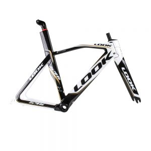 LOOK 596 I-PACK Frame Black/White XS Includes Seatpost, No Crank or Stem