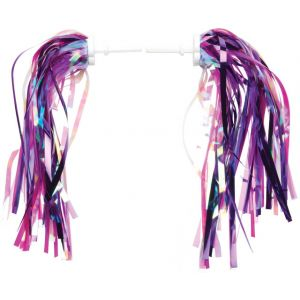 Dimension Kid's Bike Streamers Pink/Purple Pair
