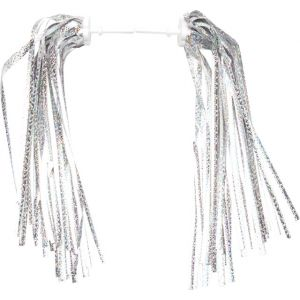 Dimension Kid's Bike Streamers Silver-Platinum Pair