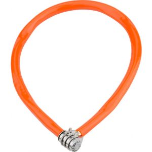 Kryptonite Keeper 665 Cable Lock with 3-Digit Combo: 2.13' x 6mm Orange