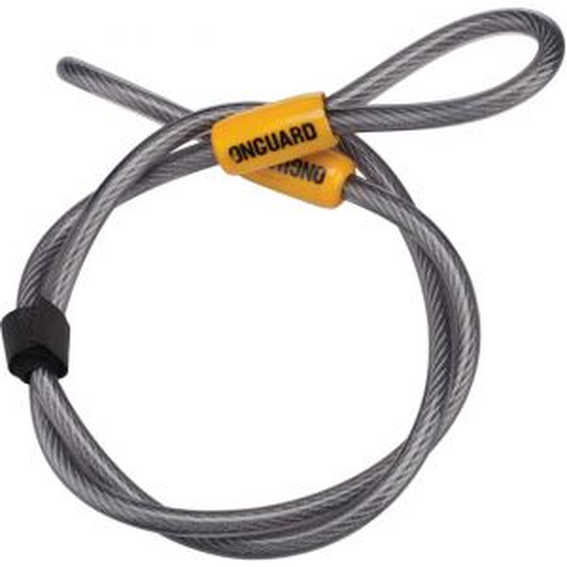 OnGuard Akita Cable: 4' x 10mm Gray/Orange
