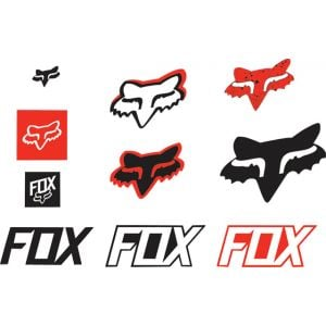 Fox Racing Track Sticker Pack: Red NS