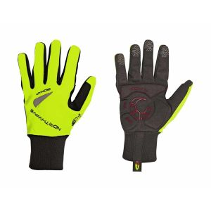 Northwave Power Long Gloves Black/Yellow Fluo L