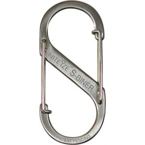 Nite Ize S-Biner #1 Stainless Steel Carabiner: 2-Pack~ Stainless