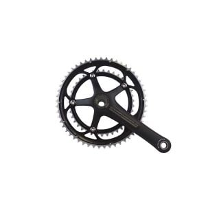 Campagnolo Veloce Black Ultra-Torque 10 Speed Double Standard 39/53 Crankset 175mm (Out of Box)