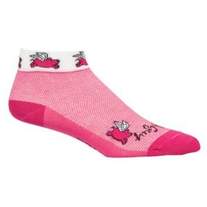 SockGuy Flying Pigs Sock: Pink SM/MD