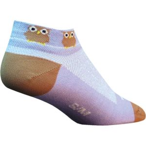 SockGuy Women's Owls Sock: Lavender/Brown SM/MD