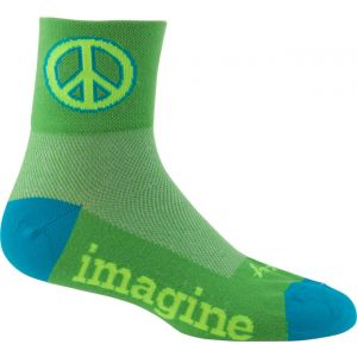 SockGuy Classics Green Peace Sock: Green LG/XL