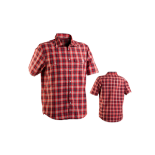 Race Face Shop Men's Shirt: Gray/Red Plaid -M